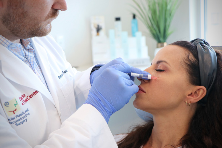 Dr. Gale injecting Botox into patient