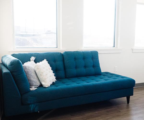 sofa at Gale Facial Plastics